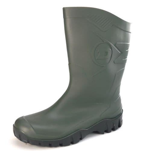 Dunlop Dee Green Wellingtons
